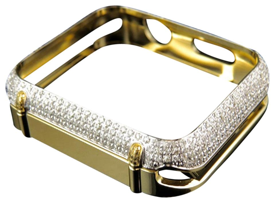 info for 776f5 43fac Jewelry Unlimited Yellow Stainless Steel Apple Genuine Diamond 42mm Bezel  Capsule Case 2.50ct Watch 64% off retail