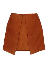 Billy Reid Lorel Leather Skirt Orange