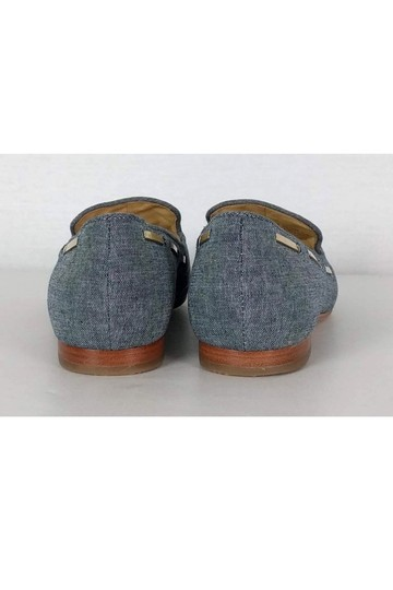 Cole Haan Chambray Loafers W/ Gold Tassels Blue Pumps