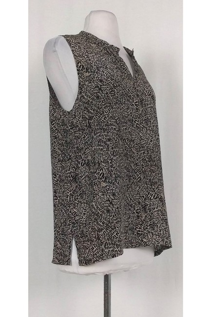 L'AGENCE Patterned Silk Top