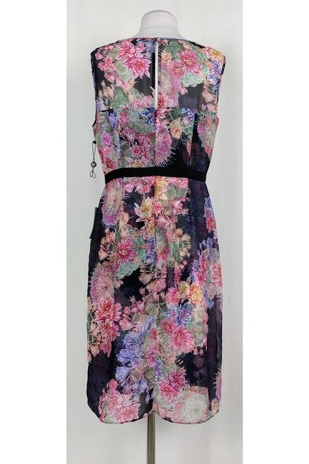 Adrianna Papell short dress Sheer Floral Sheath on Tradesy