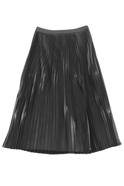 Trouvé Metallic Pleated Skirt silver