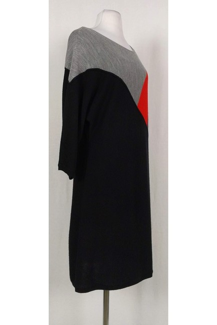 Trina Turk short dress Black Grey Orange Knit on Tradesy