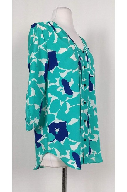 Yumi Kim Teal Blue Patterned Top