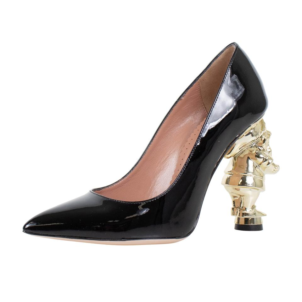 83eeea317b9 RED Valentino Patent Leather Snow White Disney Gold Black Pumps Image 0 ...