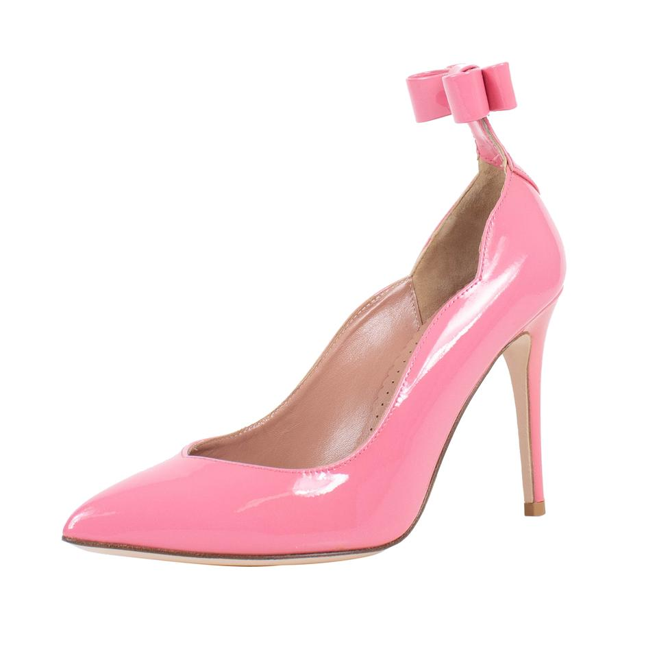 297eedef51e RED Valentino Pink With Bow Patent Leather Pumps Size US 6 Regular ...