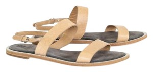 Brunello Cucinelli Leather Ankle Strap Suede Beige Sandals