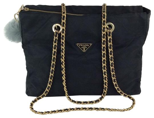 Preload https://img-static.tradesy.com/item/23937424/prada-shoulder-black-nylon-tote-0-2-540-540.jpg