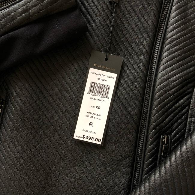 BCBGMAXAZRIA black Leather Jacket