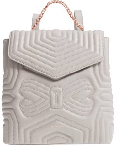1fc1d39f0 Ted Baker Quilted Bow Leather Compact Structured Designer Backpack