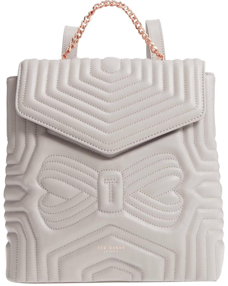 da8288bd815791 Ted Baker Quilted Bow Leather Compact Structured Designer Backpack Image 0  ...