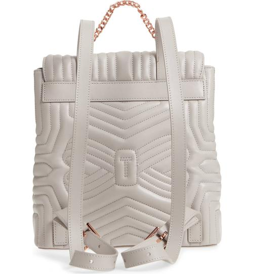 Ted Baker Quilted Bow Leather Compact Structured Designer Backpack
