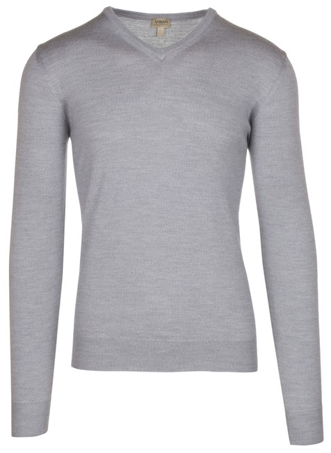 Preload https://img-static.tradesy.com/item/23937685/armani-collezioni-gray-men-s-wool-knitwear-v-neck-sweaterpullover-size-26-plus-3x-0-0-650-650.jpg