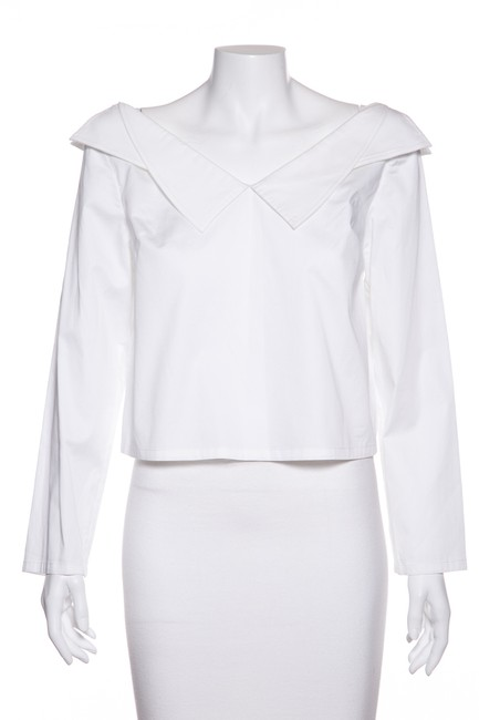 Item - White Off-the-shoulder Blouse Size 6 (S)