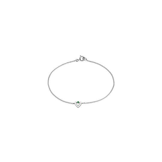 Preload https://img-static.tradesy.com/item/23937733/polished-heart-14k-white-gold-with-green-emerald-010-cara-necklace-0-0-540-540.jpg