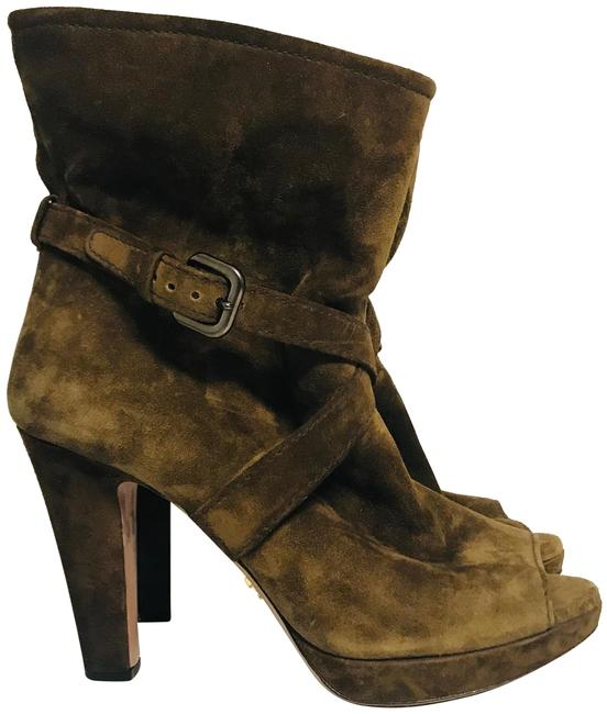 Item - Brown Suede Ankle Boots/Booties Size EU 37.5 (Approx. US 7.5) Regular (M, B)