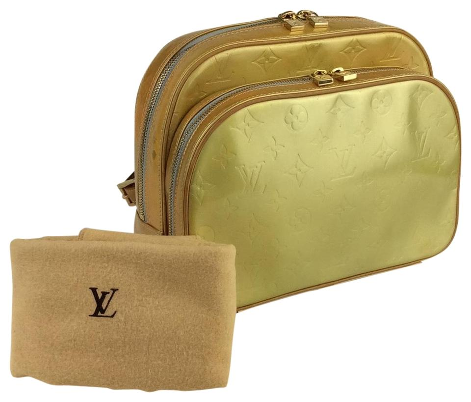 ba852fda16a1 Louis Vuitton Murray Vernis Yellow Leather Backpack - Tradesy