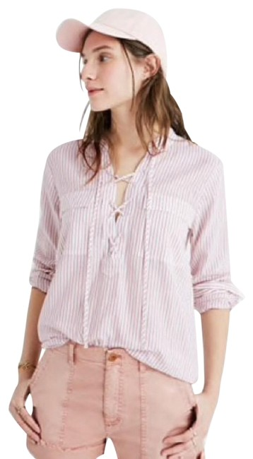 Preload https://img-static.tradesy.com/item/23937794/madewell-lace-up-terrence-in-vera-stripe-small-blouse-size-4-s-0-1-650-650.jpg