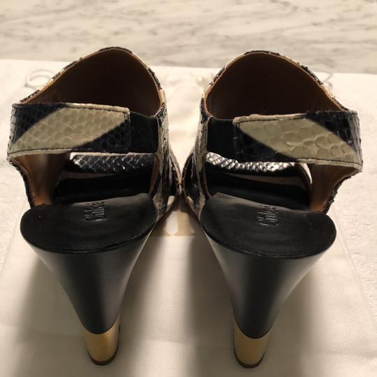 Chloé Black and White Sandals