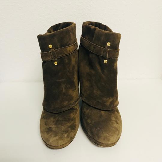 Prada Ankle Suede Round Toe Brown Boots