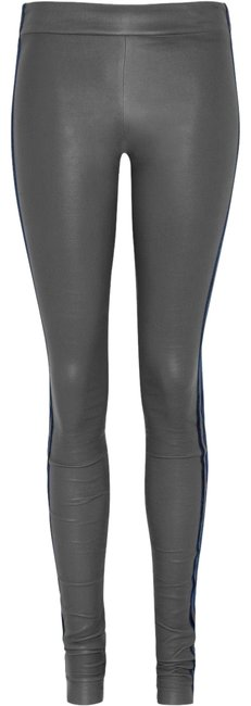 Preload https://img-static.tradesy.com/item/23937856/les-chiffoniers-gray-blue-velvet-trim-leather-pants-leggings-size-0-xs-25-0-1-650-650.jpg