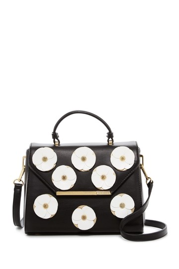 Preload https://img-static.tradesy.com/item/23937864/ted-baker-daisii-applique-flower-black-pvc-satchel-0-0-540-540.jpg