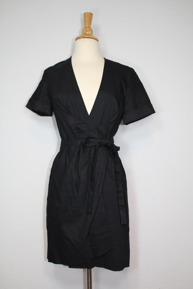 d923eecf88 Isabel Marant Black New Wrap Linen Kansas Lbd 36 Short Casual Dress Size 4  (S) - Tradesy