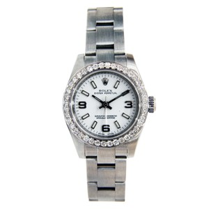 Rolex Rolex Ladies Oyster Perpetual No Date Stainless Steel with Diamond Bez