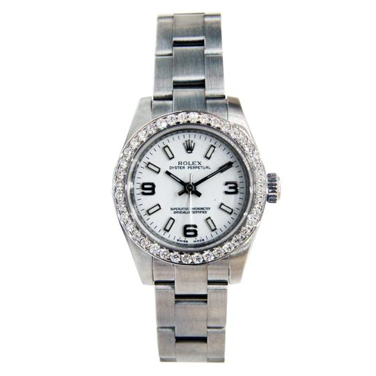 Preload https://img-static.tradesy.com/item/23937962/rolex-stainless-steel-ladies-oyster-perpetual-no-date-with-diamond-bez-watch-0-1-540-540.jpg