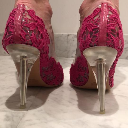 Marc Jacobs Clear vinyl and fuchsia lace Pumps