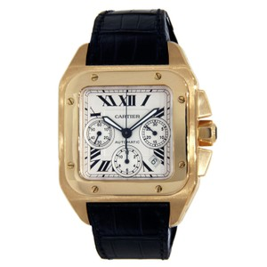 Cartier Cartier Santos 100 XL Chronograph Yellow Gold with Leathers Band