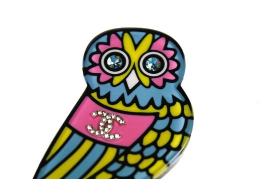Chanel New with Box: Chanel 2018 Neon Owl Brooch Pin