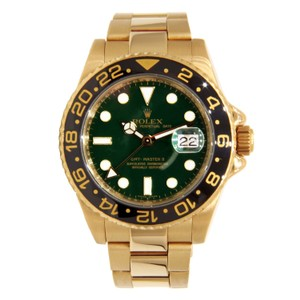 Rolex Rolex GMT-Master II Yellow Gold with Green Dial & Black Bezel 40mm