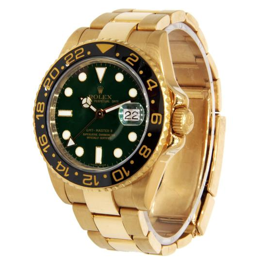 Rolex Rolex GMT-Master II Yellow Gold with Green Dial & Black Bezel 40mm Image 2