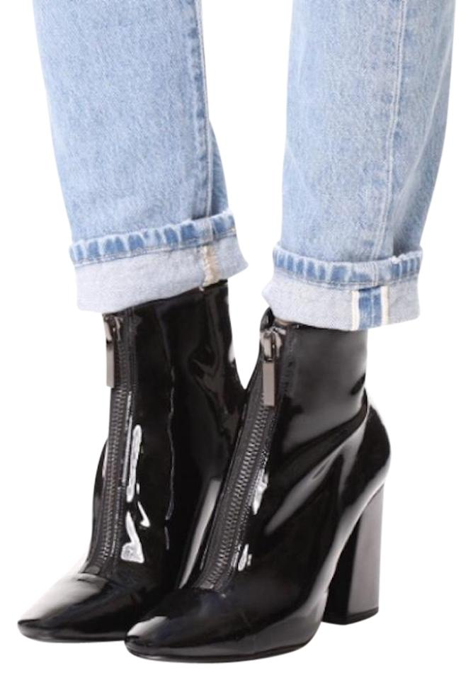 Kendall + Shiny Kylie Black Patent Leather Shiny + Ankle Boots/Booties 738001