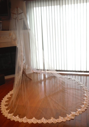 Preload https://item3.tradesy.com/images/ivory-long-mantilla-cathedral-lace-beaded-in-bridal-veil-2393812-0-0.jpg?width=440&height=440