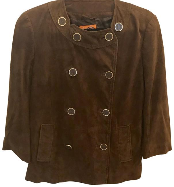 Item - Caramel Brown Suede Double-breasted Jacket Size 10 (M)