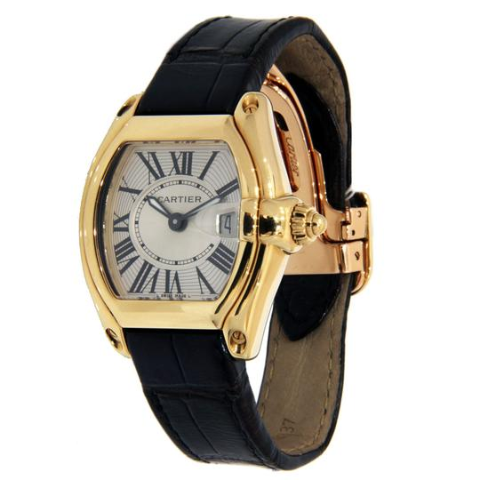 Cartier Cartier Roadster for Ladies 18K Yellow Gold with Leather strap 31mm