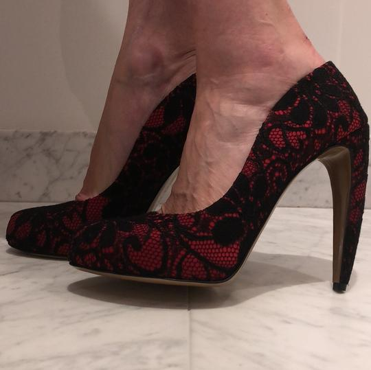 Walter Steiger Black and red Pumps