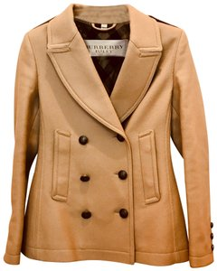 Burberry Brit Wool Double Breasted Pea Coat