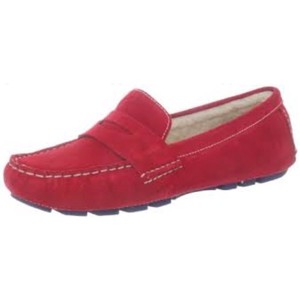 Cole Haan New Driving Suede 8 1/2 Fit bright red Flats