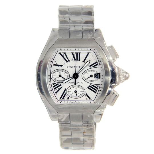 Preload https://img-static.tradesy.com/item/23938188/cartier-stainless-steel-roadster-chronograph-w-roman-numeral-dial-watch-0-0-540-540.jpg