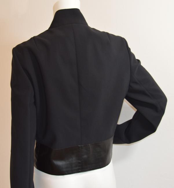 Akris Punto Kidskin Leather Fully Lined Swiss Made Fall Black Jacket Image 3