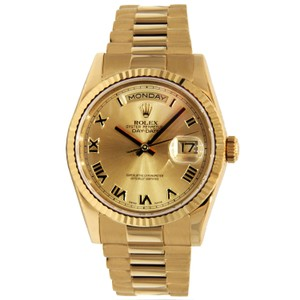 Rolex Rolex Day-Date President 18K Yellow Gold with Roman Numerals Dial 36mm