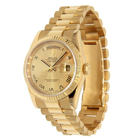 Rolex Rolex Day-Date President 18K Yellow Gold with Roman Numerals Dial 36mm Image 2