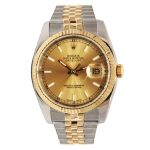 Rolex Rolex Datejust Two Tone Stainless Steel & Yellow Gold with Champagne D