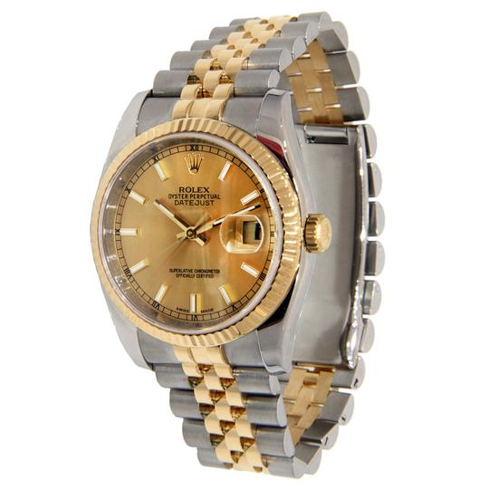 Rolex Rolex Datejust Two Tone Stainless Steel & Yellow Gold with Champagne D Image 2