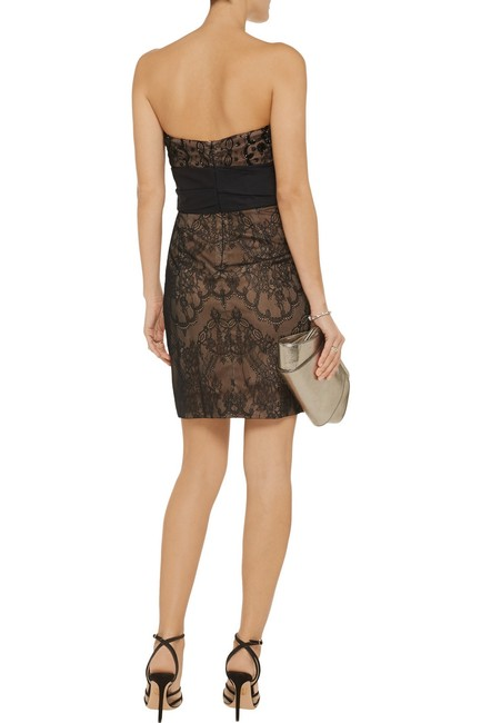 Marchesa Notte Embellished Embroidered Strapless Lace Evening Dress Image 1