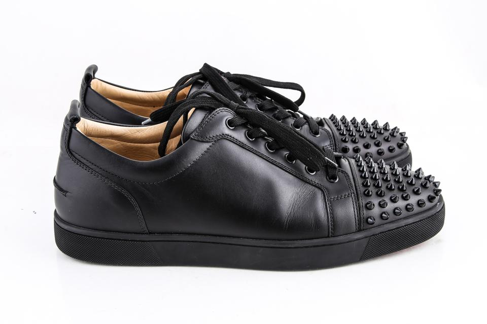 95eaa146dd8 Christian Louboutin Black Louis Junior Spike-embellished Low-top Trainers B  Shoes 15% off retail