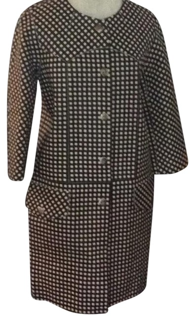 Preload https://img-static.tradesy.com/item/23938591/marc-jacobs-blackcream-gingham-leather-pea-coat-size-4-s-0-1-650-650.jpg